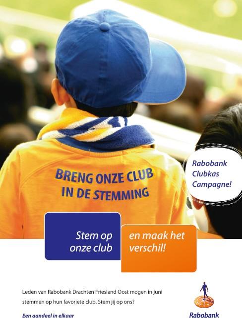 Steun ons: Rabobank Clubkas Campagne